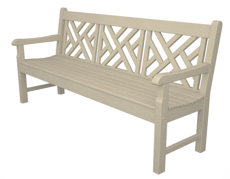 RKCB72SA Rockford 72inch Chippendale Bench in Sand