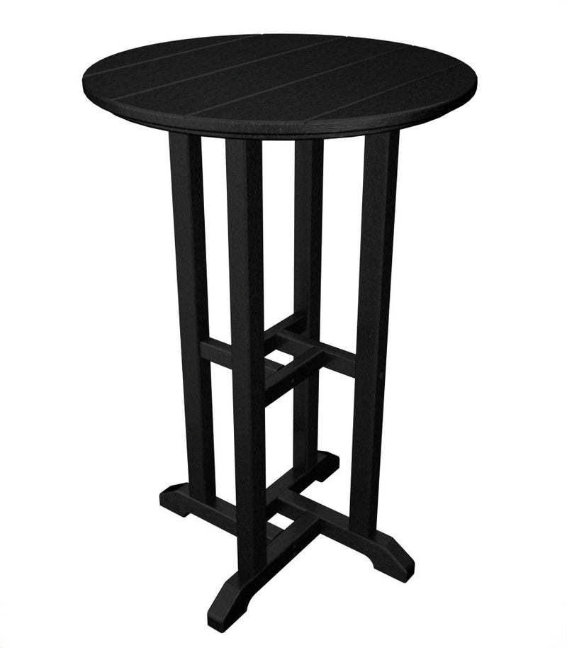 RRT124BL Traditional 24inch Round Counter Table in Black