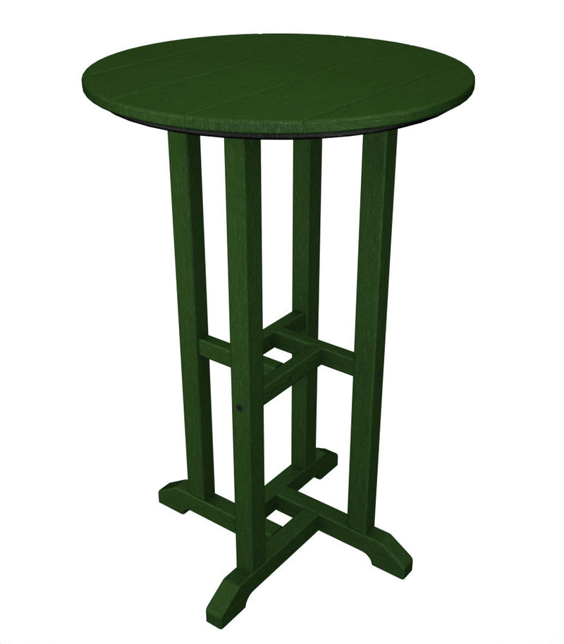 RRT124GR Traditional 24inch Round Counter Table in Green