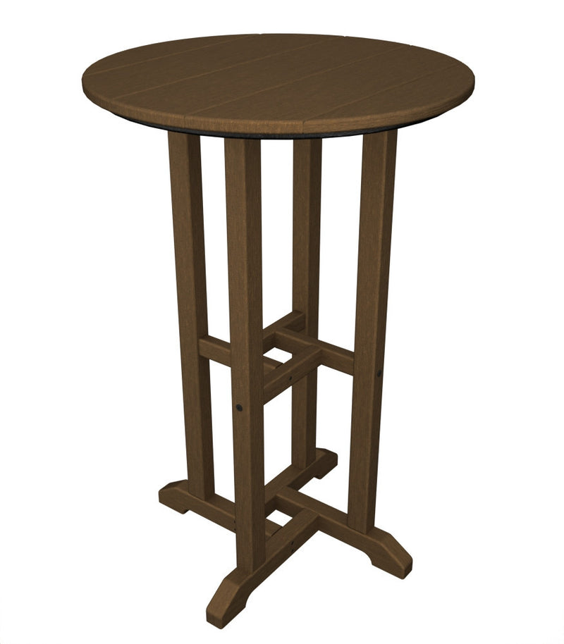 RRT124TE Traditional 24inch Round Counter Table in Teak