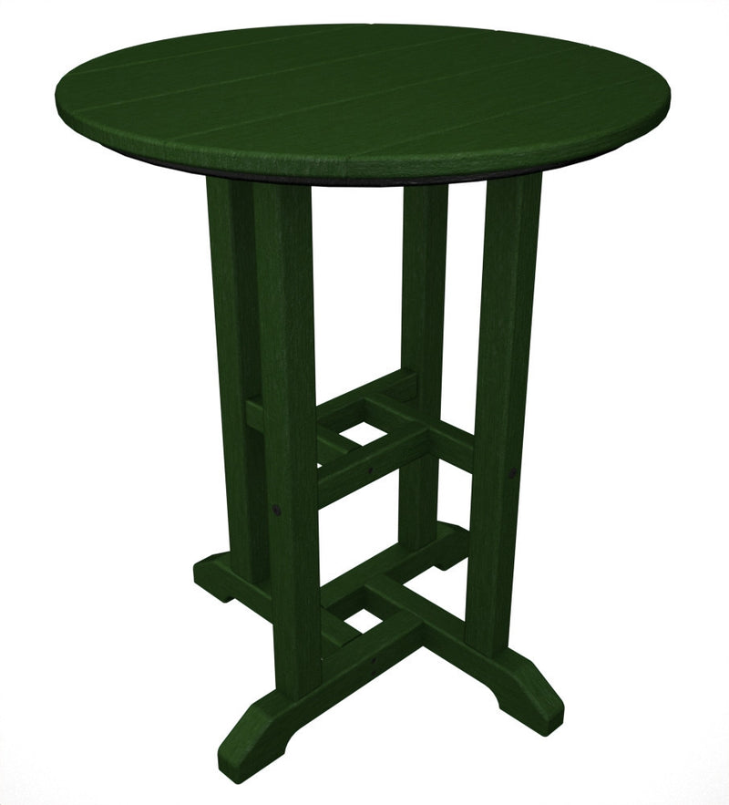 RT124GR Traditional 24inch Round Dining Table in Green