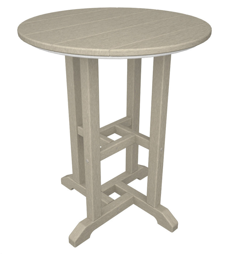 RT124SA Traditional 24inch Round Dining Table in Sand