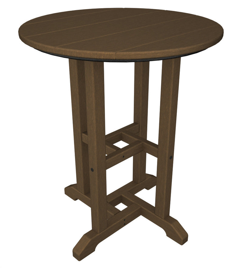 RT124TE Traditional 24inch Round Dining Table in Teak