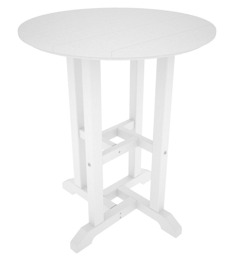 RT124WH Traditional 24inch Round Dining Table in White