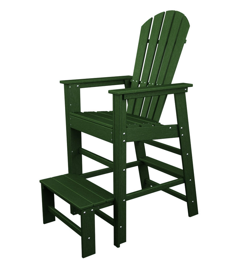SBL30GR South Beach Lifeguard Chair in Green