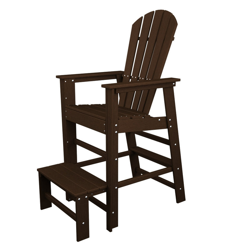 SBL30MA South Beach Lifeguard Chair in Mahogany