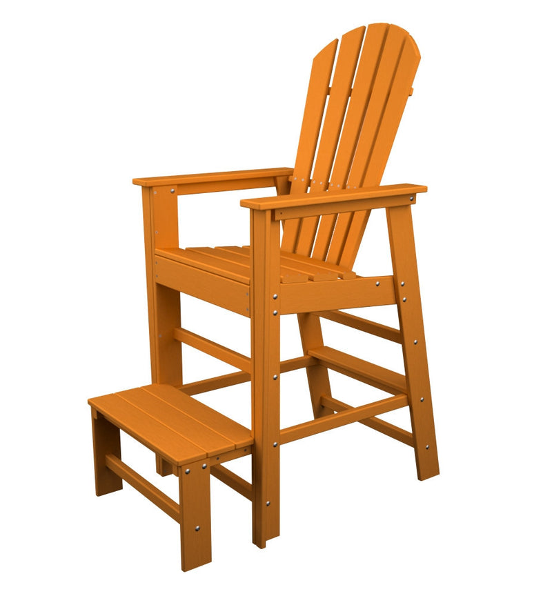 SBL30TA South Beach Lifeguard Chair in Tangerine