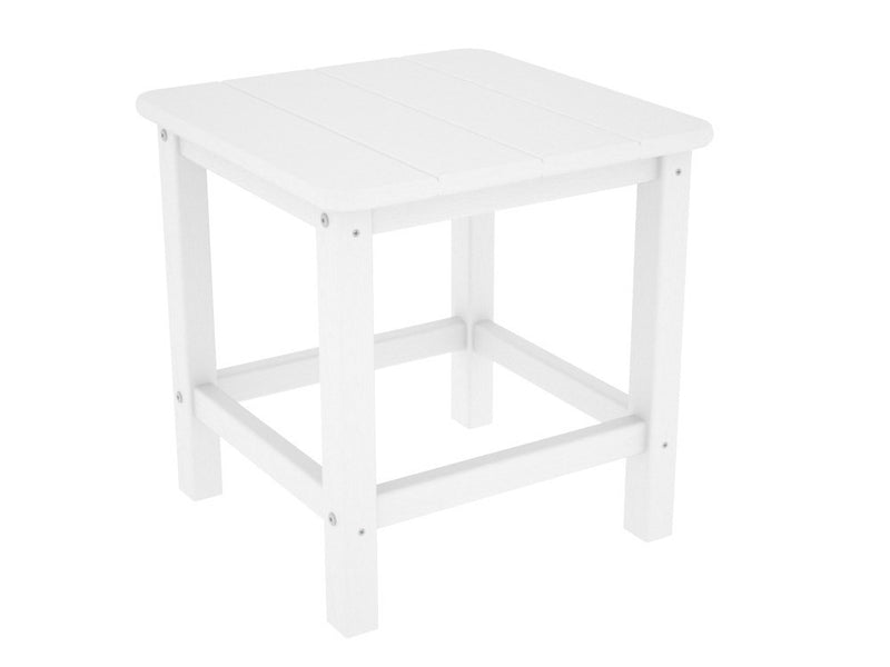 SH18WH Seashell 18inch Side Table in White