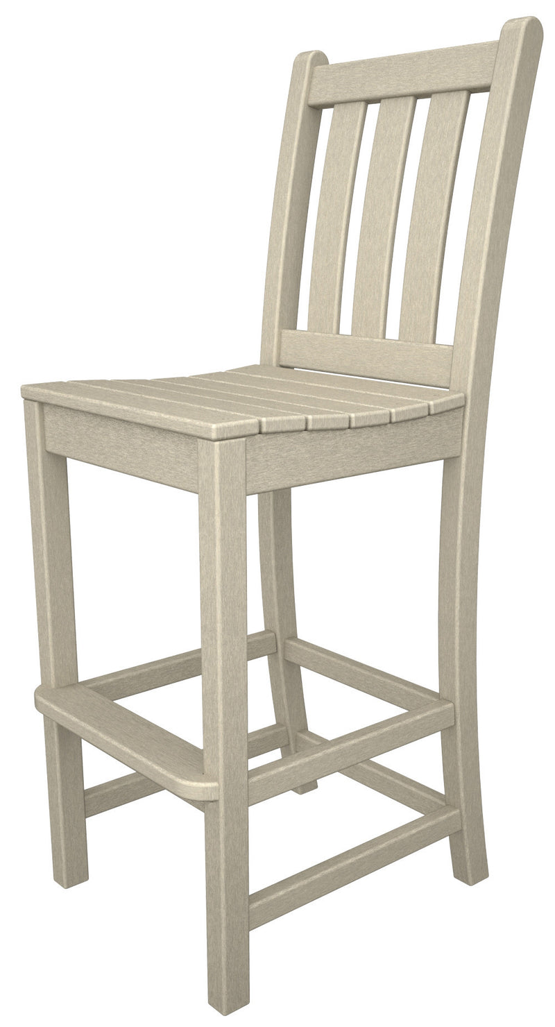 TGD102SA Traditional Garden Bar Side Chair in Sand