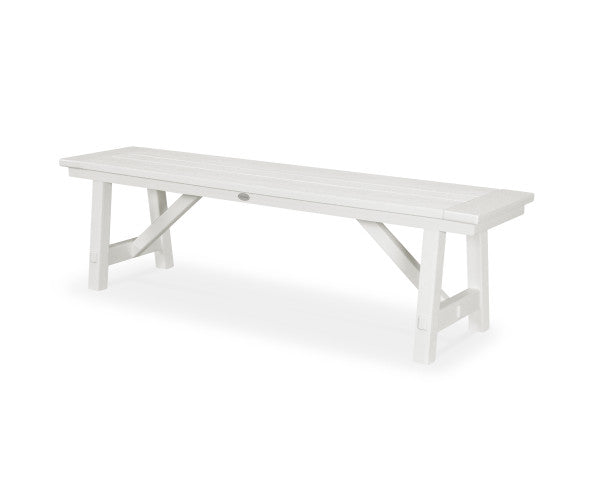 "Rustic Farmhouse 60"" Backless Bench - Vintage Finish"