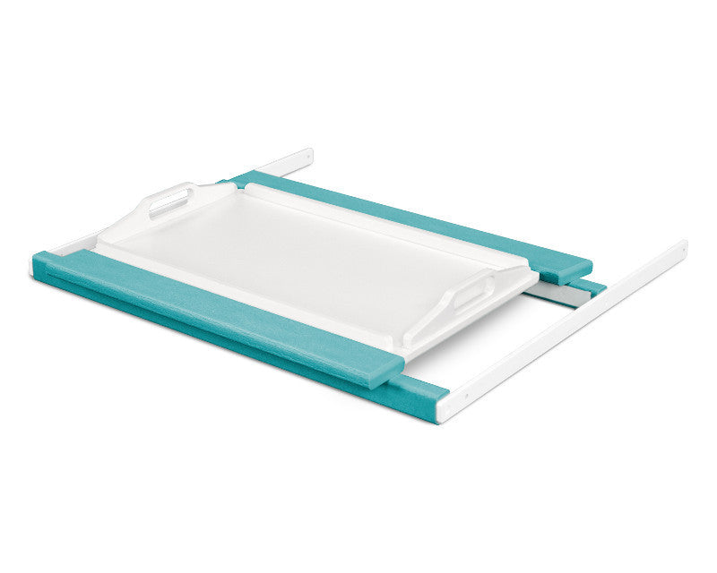 TT22ARMWH Shell Tray Table in Aruba and White