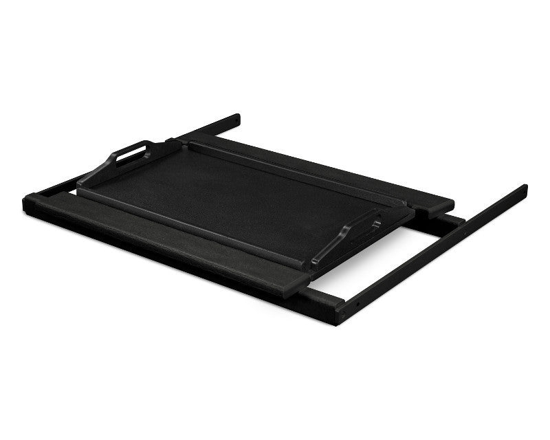 TT22BLMBL Shell Tray Table in Black and Black