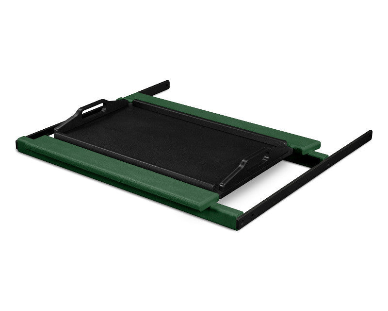 TT22GRMBL Shell Tray Table in Green and Black