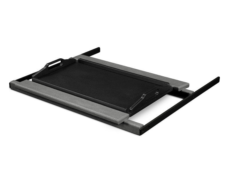 TT22GYMBL Shell Tray Table in Slate Grey and Black