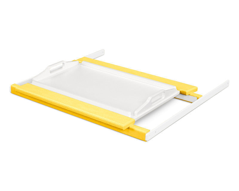 TT22LEMWH Shell Tray Table in Lemon and White