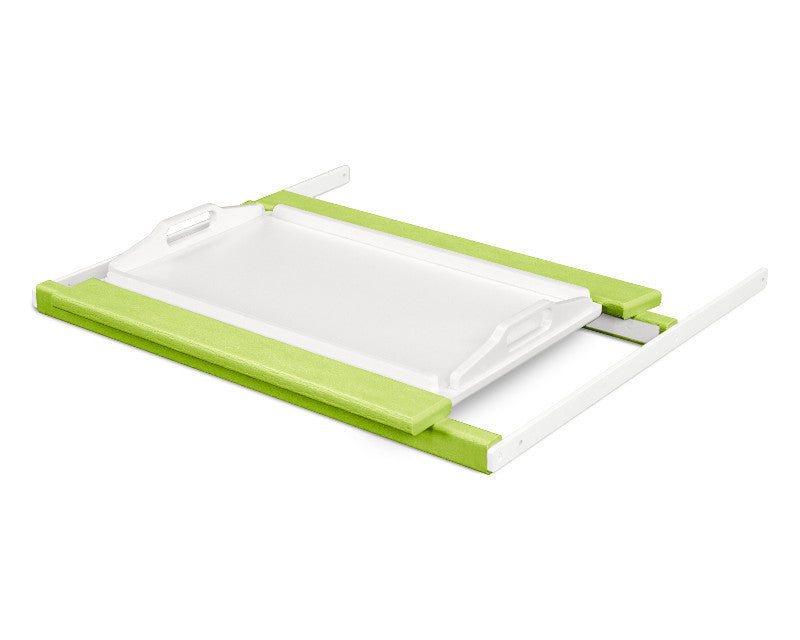 TT22LIMWH Shell Tray Table in Lime and White