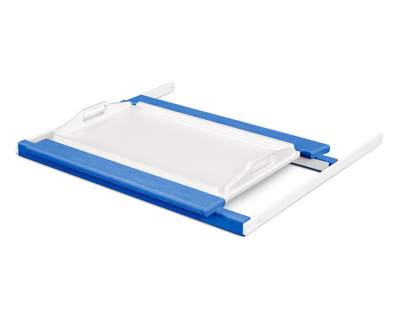 TT22PBMWH Shell Tray Table in Pacific Blue and White