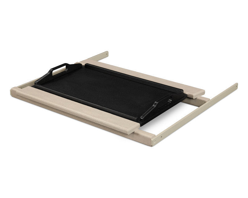 TT22SAMBL Shell Tray Table in Sand and Black