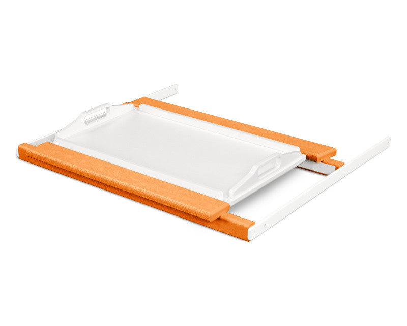 TT22TAMWH Shell Tray Table in Tangerine and White