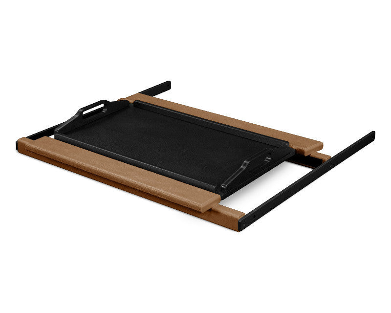 TT22TEMBL Shell Tray Table in Teak and Black