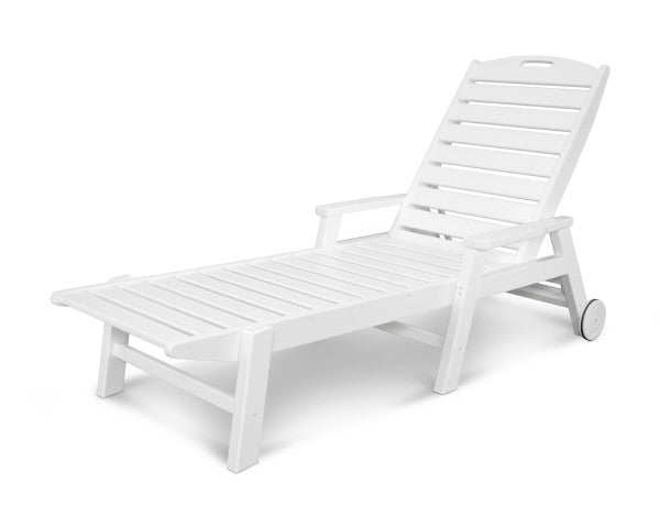 Nautical Chaise with Wheels
