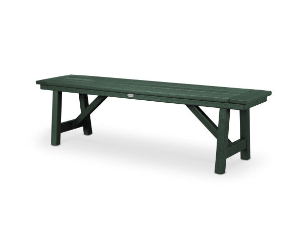 "Rustic Farmhouse 60"" Backless Bench - Classic Finish"