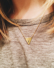 Personalized Handstamped Triangle Necklace