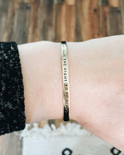 We Deserve To Be Heard Handstamped Skinny Cuff