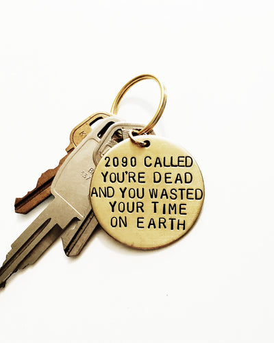 2090 Called Handstamped Keychain