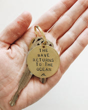 The Wave Returns To The Ocean Handstamped Keychain