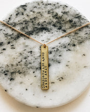 Stay Sexy Don't Get Murdered Handstamped Vertical Bar Necklace