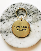 Adventure Awaits Handstamped Keychain