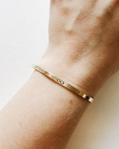 Infinity Symbol Handstamped Skinny Cuff