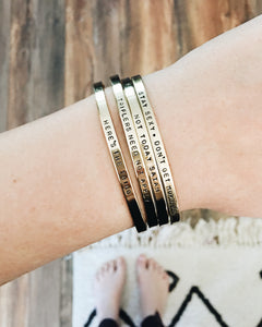 Triflers Need Not Apply Handstamped Skinny Cuff