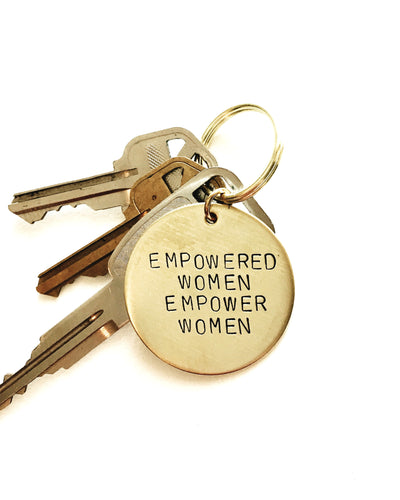 Empowered Women Empower Women Handstamped Keychain