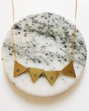 Nope Handstamped Triangle Banner Necklace