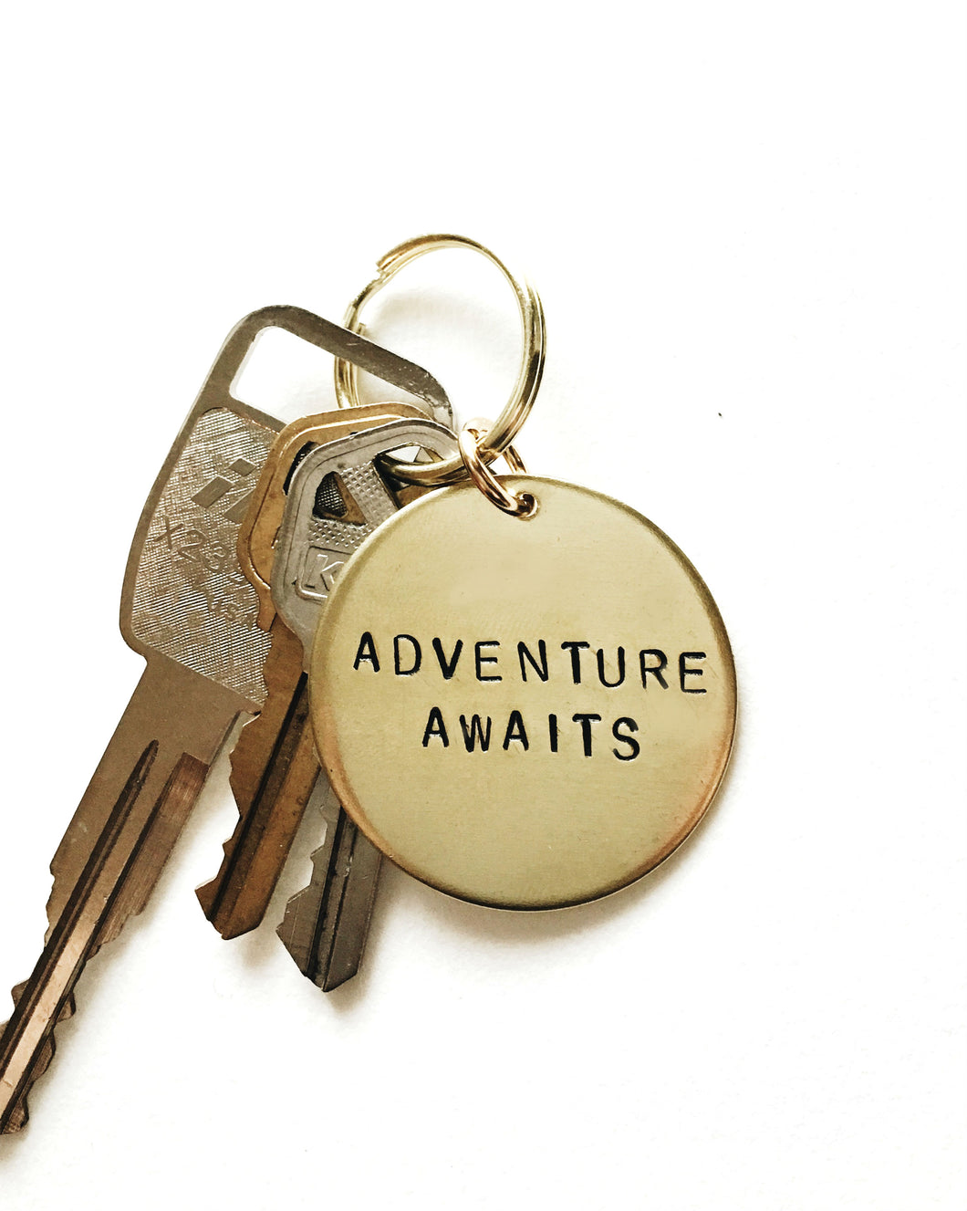 Personalized Handstamped Keychain