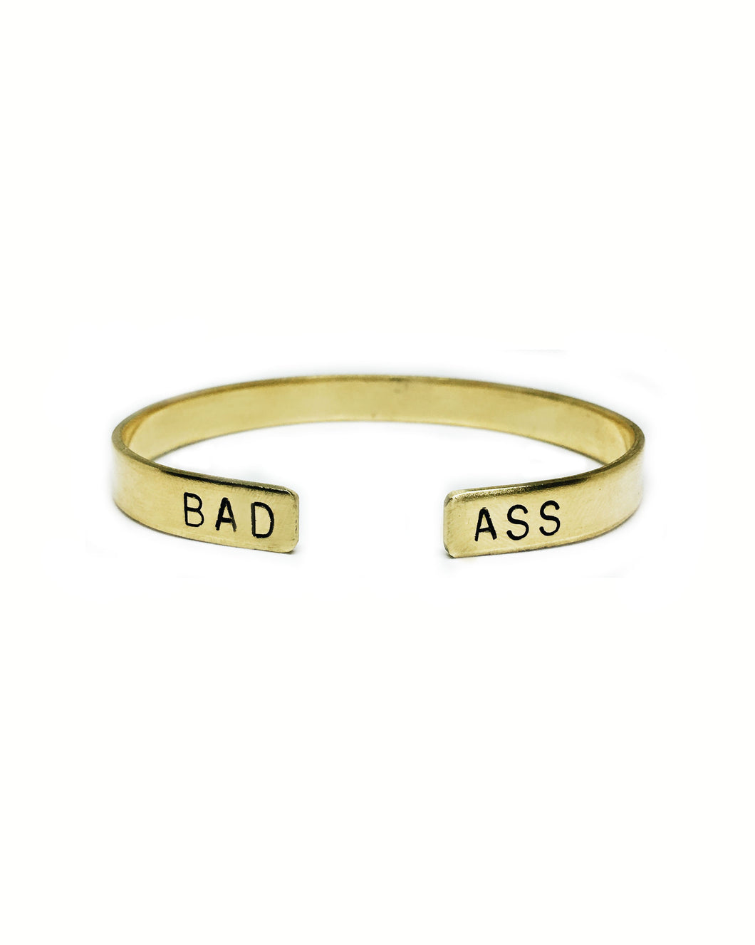 Badass Open Ended Handstamped Cuff