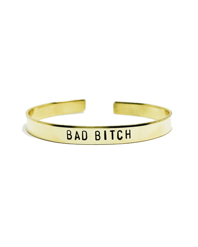 Bad B*tch Handstamped Cuff