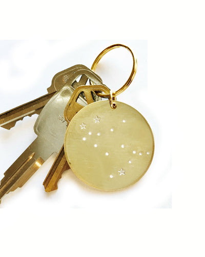 Constellation Handstamped Keychain