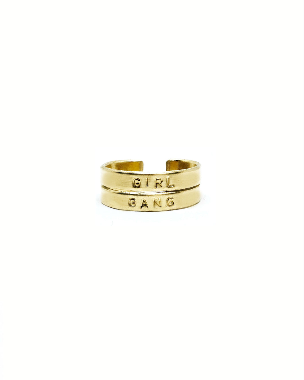 Girl Gang Handstamped Rings