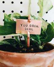 You Grow, Girl Plant Marker Stake