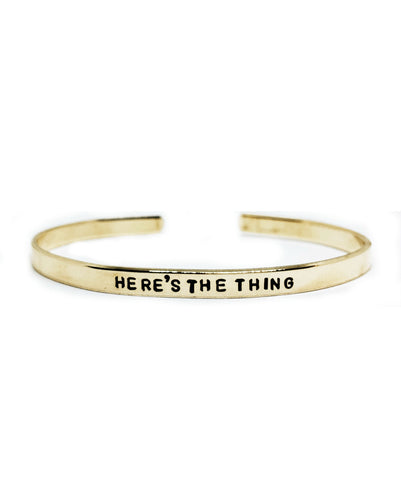 Here's The Thing F*ck Everyone Two Sided Handstamped Skinny Cuff