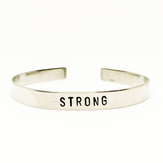 Strong Handstamped Cuff