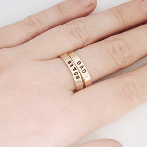 Bad B*tch Handstamped Rings