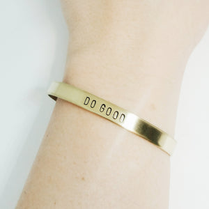 Do Good Handstamped Cuff