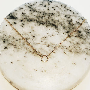 Dainty Circle Gold Necklace