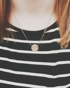 YAS Handstamped Circle Necklace