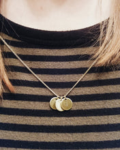 Initials Tiny Circle Handstamped Pendant Necklace