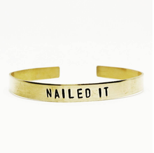 Nailed It Handstamped Cuff